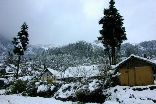 Tuyết rơi ở Đồng Văn Hà Giang