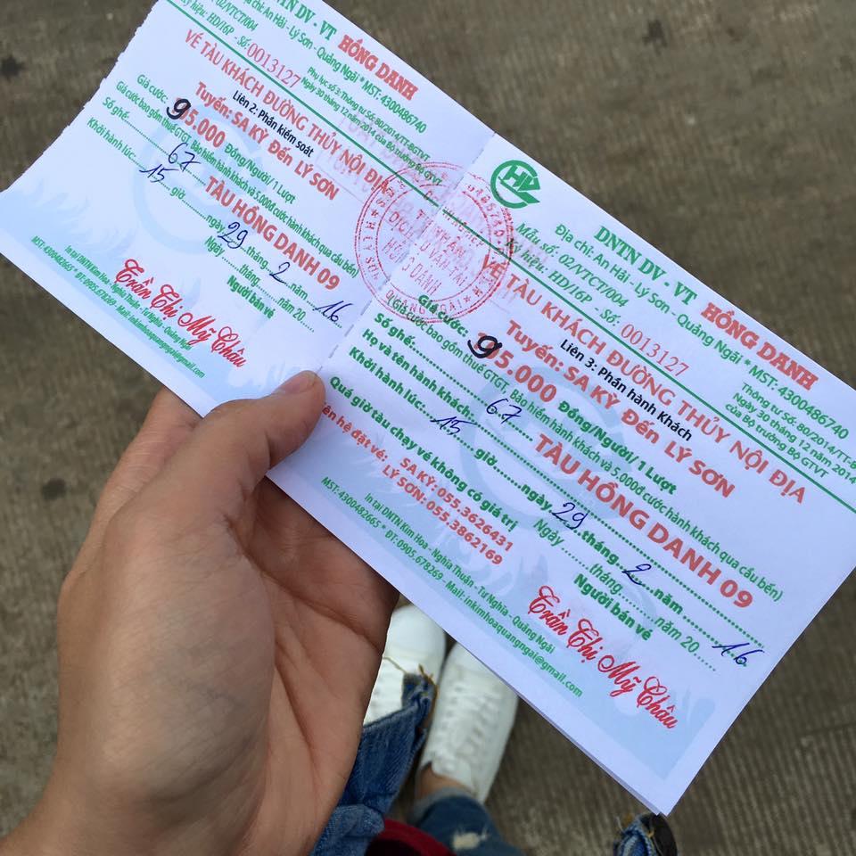 Vé tàu đi lý sơn - kinh nghiệm du lịch đảo Lý Sơn
