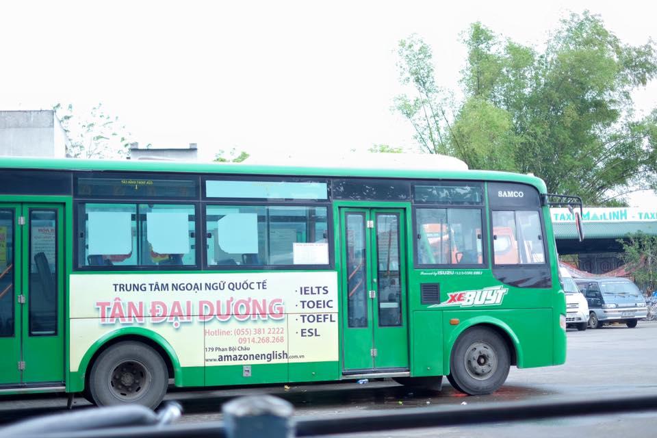 Xe bus mai linh đi Saky kinh nghiệm du lịch đảo Lý Sơn