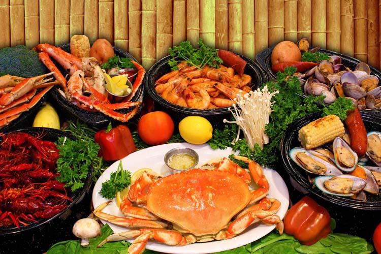 Đủ loại hải sản tươi ngon cho bạn lựa chọn và thưởng thức