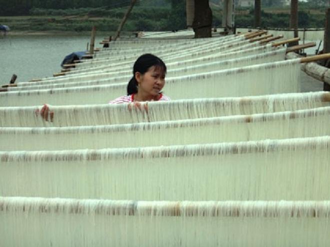 Ngon giai với mỳ gạo Hùng Sơn, đặc sản ở Thái Nguyên