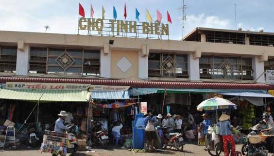 Chợ Tịnh Biên địa điểm du lịch ở An Giang