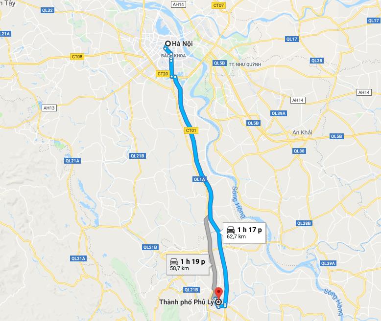 Hướng dẫn đường đi du lịch Hà Nam