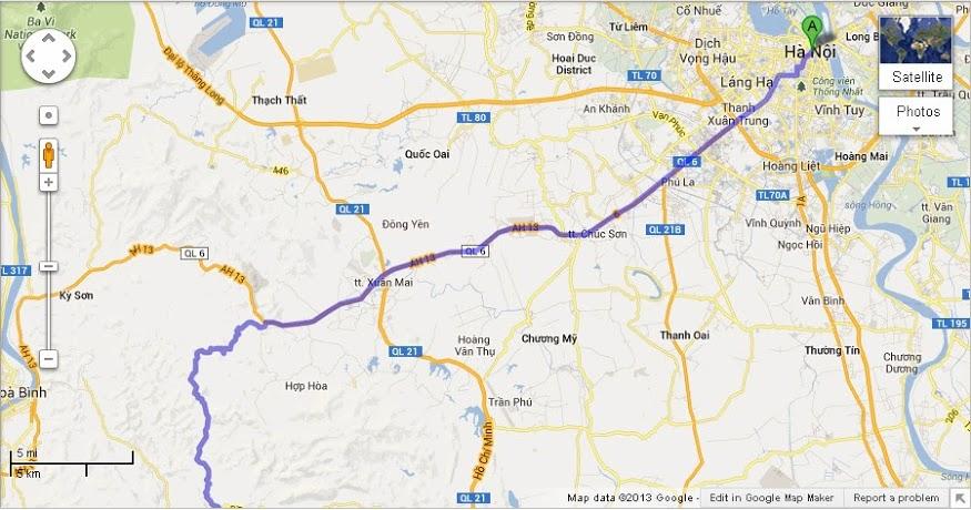 Đường đi phượt Mộc Châu từ Hà Nội