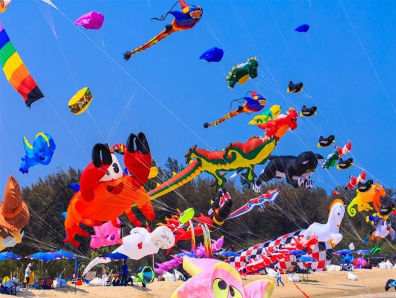 Lễ hội diều quốc tế ở Thái Lan. Ảnh Internet
