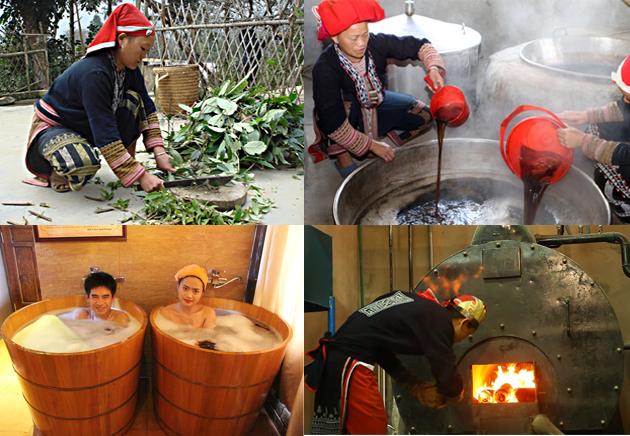 Tắm lá thuốc của người Dao đỏ ở Tả Phìn là một trải nghiệm bạn nên thử khi du lịch Sapa. Ảnh Internet