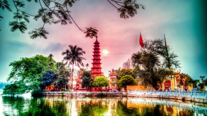 Chùa Trấn Quốc từng lọt top 16 ngôi chùa đẹp nhất thế giới. Ảnh Internet