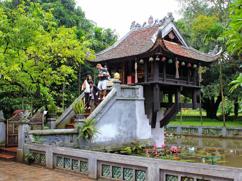 Chùa Một Cột - chùa có kiến trúc độc đáo nhất châu Á. Ảnh Internet