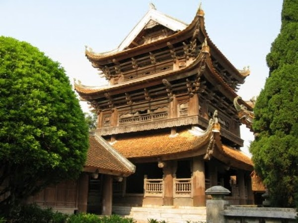 Một góc chùa Keo Thái Bình. Ảnh Internet
