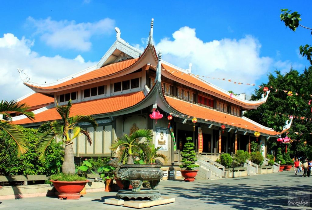 Vĩnh Nghiêm - ngôi chùa đẹp ở Việt Nam được đánh giá là có kiến trúc Phật giáo tiêu biểu. Ảnh Internet