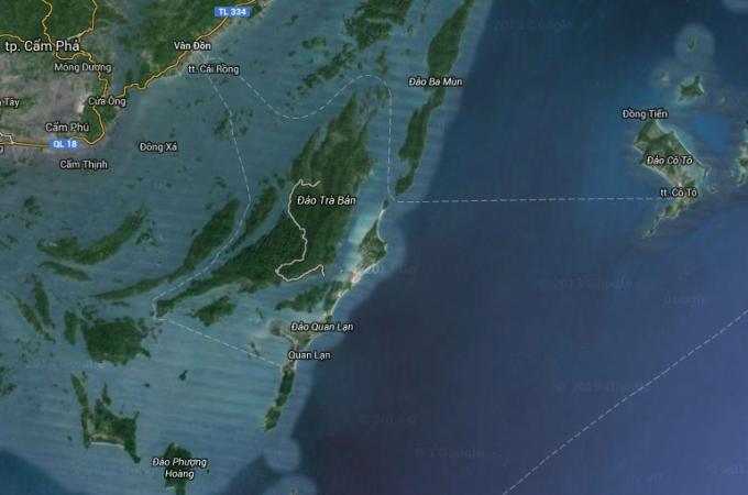 Bản đồ chụp map vệ tinh của Đảo Cô Tô