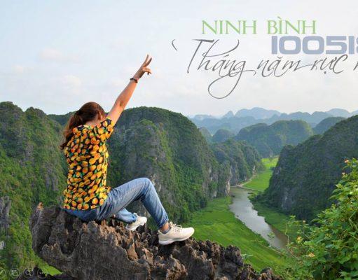 Toàn cảnh Tam Cốc nhìn từ trên đỉnh núi Ngọa Long, Hang Múa.