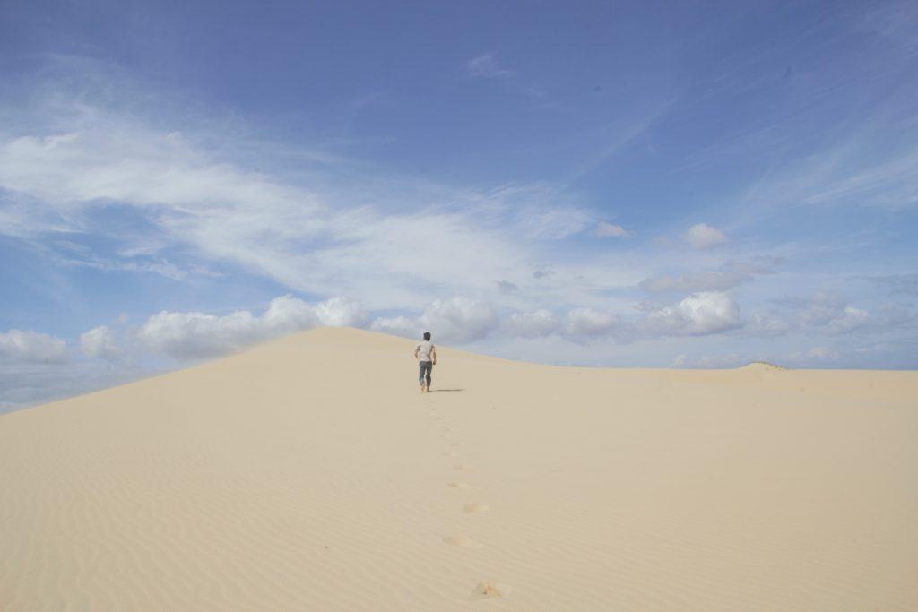 Đồi Cát Bình Thạnh tuy không quá lớn như các cồn cát khác nhưng cũng cho ta trải nghiệm tuyệt vời