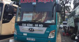 Xe khách Khoa Mận đi Cao Bằng