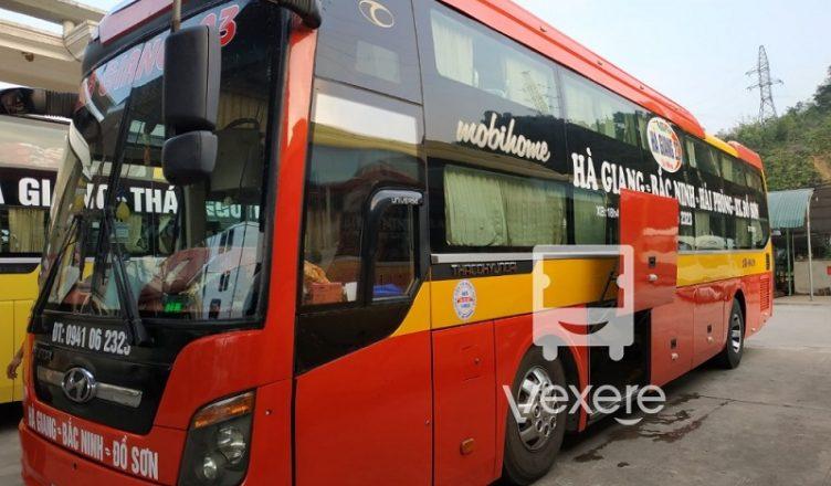 Sleeping bus from Ha Giang-Cat Ba
