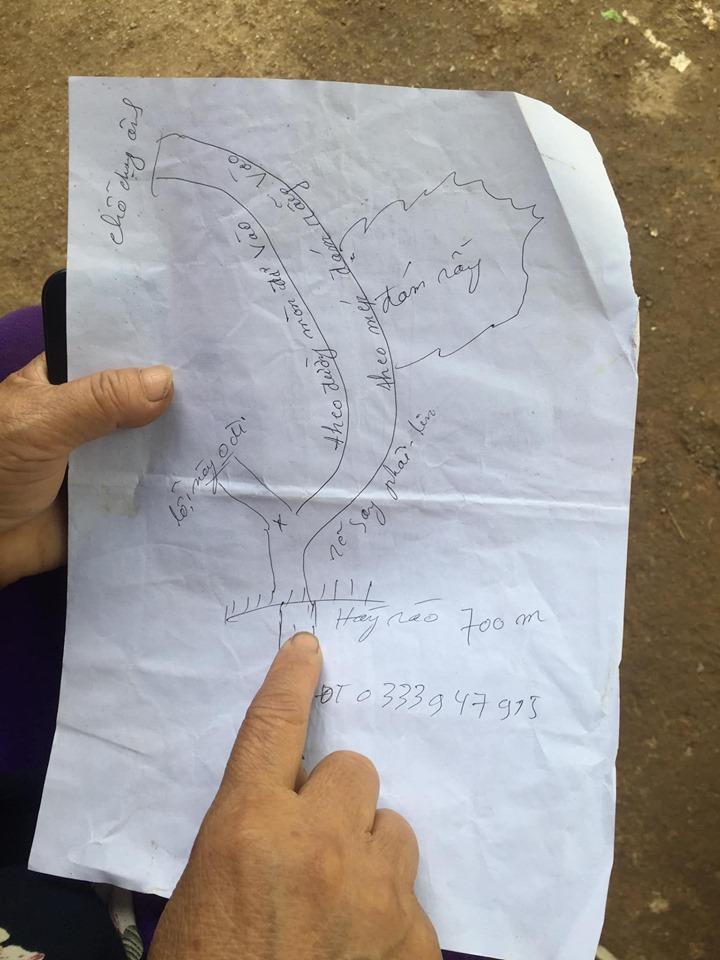 Bản đồ đi đến điểm ngắm dốc 14 tầng. Có thể gọi trợ giúp từ bà sdt 0333 947 915